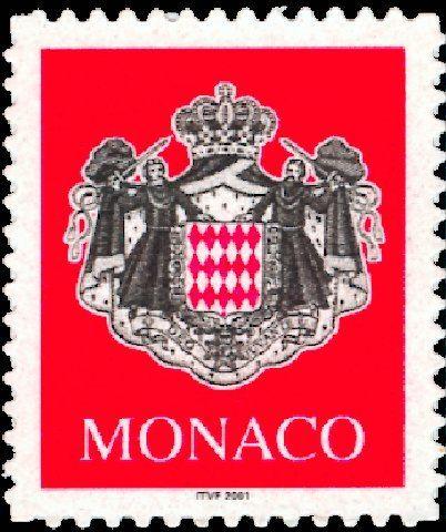 armoiries timbre de monaco n 2280 mis en 2000. Black Bedroom Furniture Sets. Home Design Ideas
