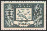 avion et armoiries timbre de monaco a rien n 17 mis. Black Bedroom Furniture Sets. Home Design Ideas