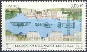 1er liaison postale Nancy-Lunéville 1912