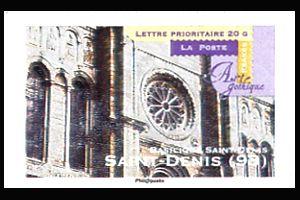 art gothique basilique saint denis saint denis timbre fran ais n 563 de couleur. Black Bedroom Furniture Sets. Home Design Ideas