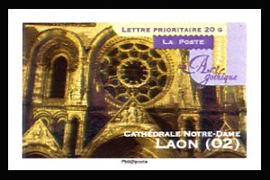 art gothique cath drales notre dame laon timbres de france mis en 2011. Black Bedroom Furniture Sets. Home Design Ideas