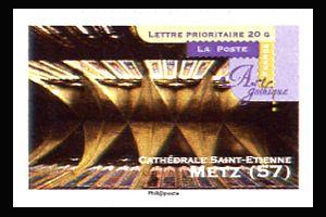 art gothique cath drales saint etienne metz timbres de france mis en 2011. Black Bedroom Furniture Sets. Home Design Ideas
