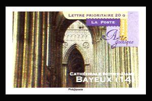 art gothique cath drales notre dame bayeux timbres de france mis en 2011. Black Bedroom Furniture Sets. Home Design Ideas