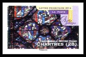 art gothique cath drales notre dame chartres timbres de france mis en 2011. Black Bedroom Furniture Sets. Home Design Ideas