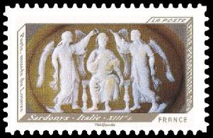 Impressions de relief, Sardonyx - Italie - XIIIème siècle