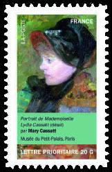 Portraits de femmes dans la peinture, Portrait de Mademoiselle Lydia Cassat (détail)par Mary Cassat