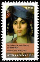 Portraits de femmes dans la peinture, Tête de femme Biskra (détail) par Marie Caire Musée du quai Branly, Paris