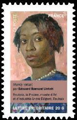 Portraits de femmes dans la peinture, Mandy (détail) par Edouard Barnard Lintott La Piscine, musée d'Art et d'Industrie André Diligent, Roubaix