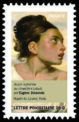 Portraits de femmes dans la peinture, Jeune orpheline au cimetière (détail) par Eugène Delacroix Musée du Louvre, Paris