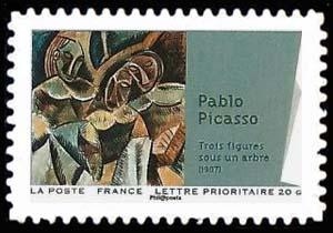 Carnet «Peintures du XXème siècle - Cubisme», Trois figures sous un arbre (1907)