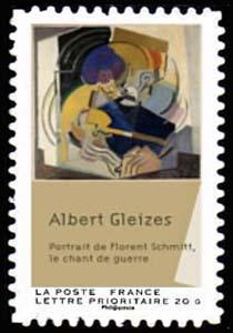 Carnet «Peintures du XXème siècle - Cubisme»,  Le Chant de guerre, portrait de Florent Schmitt (1915)
