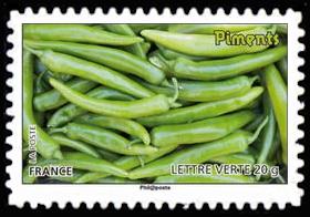 Des légumes pour une lettre verte, Piments verts