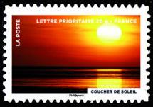 Le timbre fête le feu, Le coucher du soleil