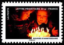 Le timbre fête le feu, Les bougies d'anniversaire