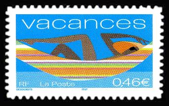 timbre pour vacances timbres de france mis en 2002. Black Bedroom Furniture Sets. Home Design Ideas