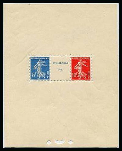Exposition philatélique de Strasbourg 1927