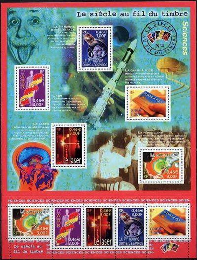 le si cle au fil du timbre sciences timbres de france mis en 2001. Black Bedroom Furniture Sets. Home Design Ideas