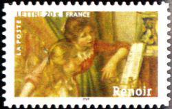Peinture : les impressionnistes Auguste Renoir « Jeunes filles au piano » 1892