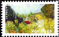 Peinture : les impressionnistes Vincent Van Gogh « Mademoiselle Gachet dans son jardin » 1890