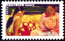 Peinture : les impressionnistes Paul Gauguin « Deux femmes sur la plage » 1891