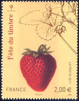 Fête du timbre, Fraise rubis Jardin fruitier du Museum
