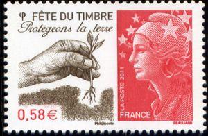 Fête du timbre,  Protégeons l'eau, Protégeons la terre