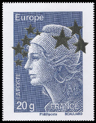 Marianne de l'Europe étoiles d'or