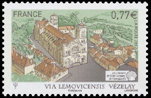Les chemins de Saint-Jacques-de-Compostelle (Basilique Sainte Marie Madeleine de Vézelay )