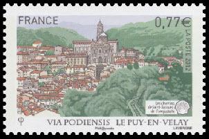 'Les chemins de Saint-Jacques-de-Compostelle ( Cathédrale de Notre Dame de l''Annociation du Puy en Velay )'