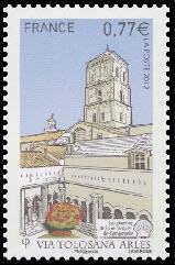 Les chemins de Saint-Jacques-de-Compostelle ( basilique de St Trophime et cloitre à Arles )