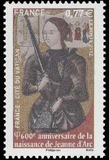 600ème anniversaire de la naissance de Jeanne d'Arc (1412)