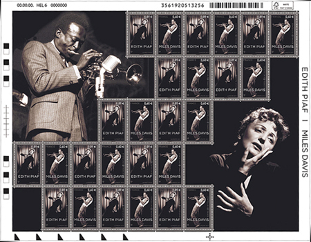 Edith Piaf (1915-1963) et Miles Davis (1926-1991)