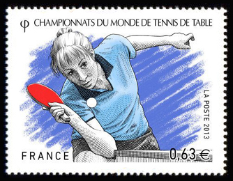 Championnat du monde de tennis de table timbres de france - Championnat du monde de tennis de table ...