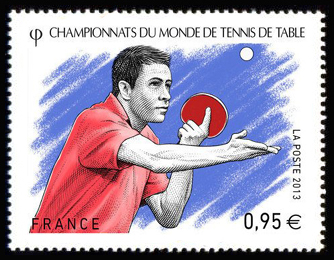 Liste des 326 timbres mis en 2013 - Champion du monde de tennis de table ...