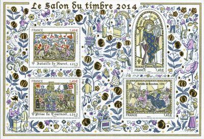 Salon du timbre 2014 timbre bloc feuillet n 135 for Salon du timbre 2017
