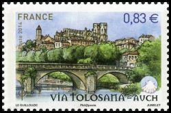 Les chemins de Saint Jacques de Compostelle, Via Tolosana - Auch