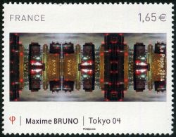 Evolution du monde urbain tableau de Maxime Bruno