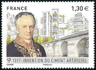 Invention du ciment artificiel (1817) par Louis Vicat