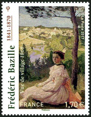 Frédéric Bazille (1841-1870), Vue de village, huile sur toile exposée au musée Henri Fabre