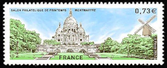 Salon philatélique de printemps, Montmartre avec le Sacrée Coeur