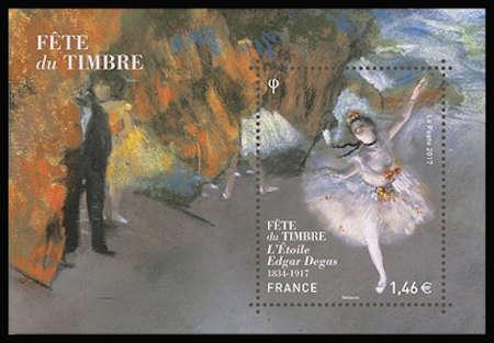 Fête du timbre, l'Etoile, tableau d'Egard Degas