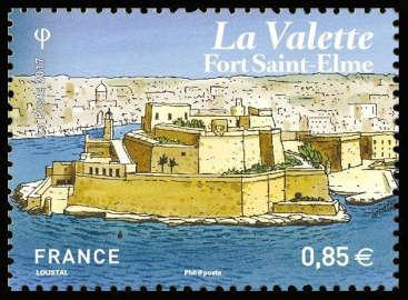 La Valette, capitale de Malte, Fort St Elme (en réalité Fort Saint-Ange)