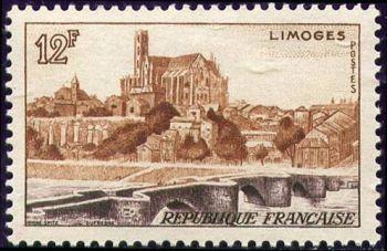 Vue de Limoges (Le pont Saint Etienne et la cathédrale)