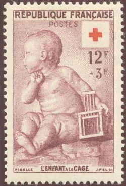 Croix rouge l'enfant à la cage