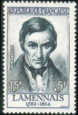 Félicité Robert de Lamennais (1782-1854) écrivain, philosophe, homme politique