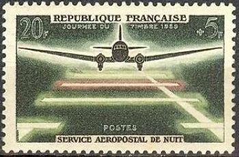 Journée du timbre - 20ème anniversaire du service aéropostal de nuit
