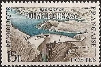 Barrage de Foum El Gherza en Algérie