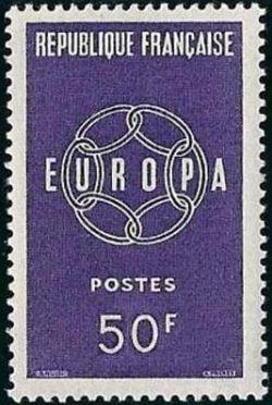 europa timbres de france mis en 1959. Black Bedroom Furniture Sets. Home Design Ideas