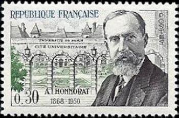 andr honnorat 1868 1950 homme politique fran ais timbres de france mis en 1960. Black Bedroom Furniture Sets. Home Design Ideas