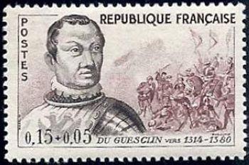 Du Guesclin et scène de la bataille de Cocherel